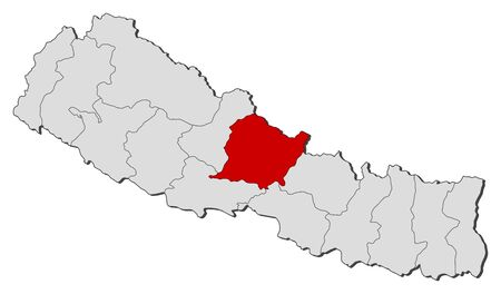 zones: Political map of Nepal with the several zones where Gandaki is highlighted.