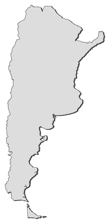 argentina: Political map of Argentia with the several provinces. Illustration