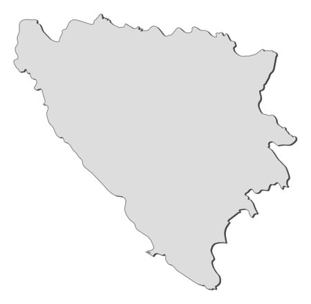 herzegovina: Political map of Bosnia and Herzegovina with the several cantons.