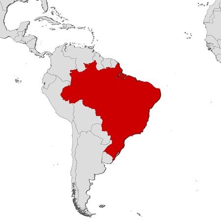 Politieke kaart van Brazilië met de verschillende staten. Vector Illustratie