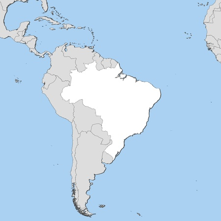 Political map of Brazil with the several states. Vector