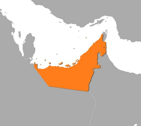 united arab emirate: Political map of the United Arab Emirates with the several emerats.