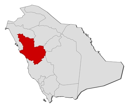 Political Map Of Saudi Arabia With The Several Provinces Where ...