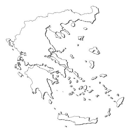 mapa politico: Mapa pol�tico de Grecia, con los diversos estados.