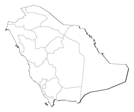 Political Map Of Saudi Arabia With The Several Provinces. Royalty ...