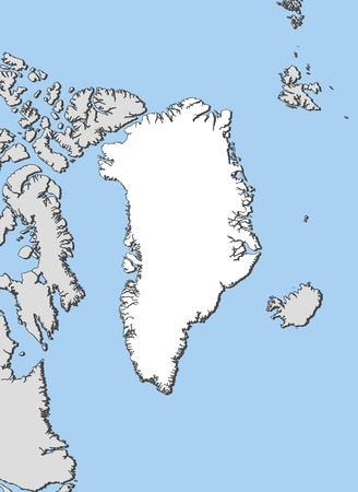 municipalities: Political map of Greenland with the several municipalities.