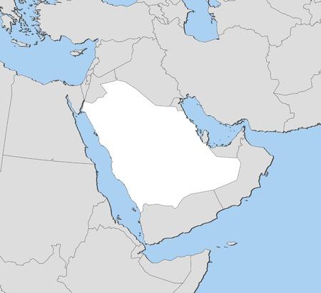 mapa politico: Mapa pol�tico de Arabia Saudita con las varias provincias. Vectores