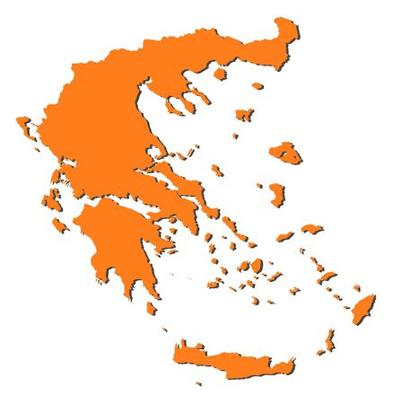 Political map of Greece with the several states. Stock Vector - 11451570