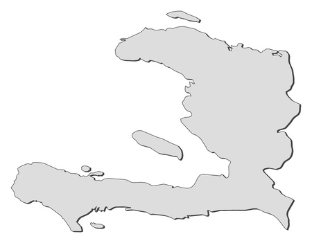 middle america: Political map of Haiti with the several departments. Illustration