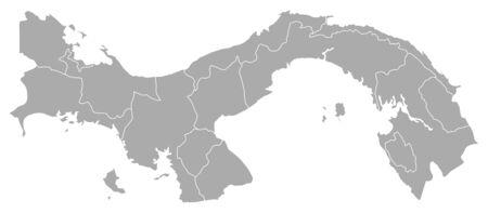 Political map of Panama with the several provinces. Illusztráció