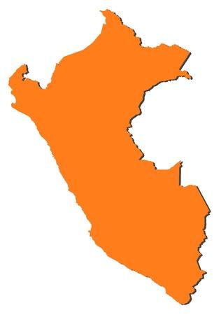 mapa del peru: Mapa pol�tico del Per� con las diversas regiones. Vectores