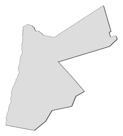 southwestern asia: Political map of Jordan with the several governorates. Illustration