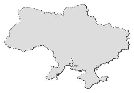 Mapa político de Ucrania con las provincias varias.