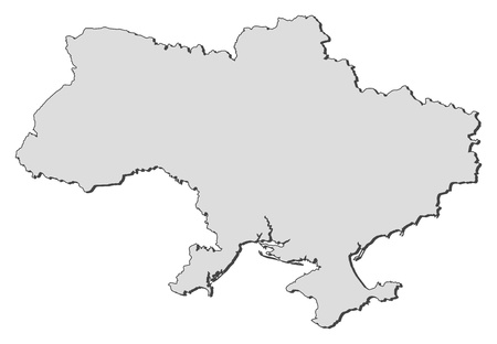 political map: Political map of Ukraine with the several oblasts. Illustration