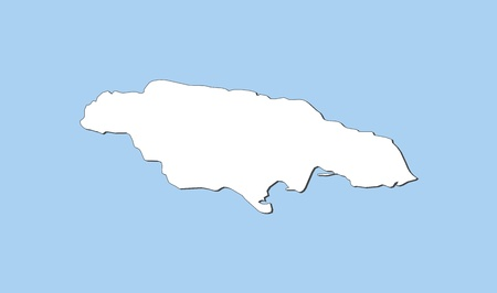 middle america: Political map of Jamaica with the several counties.