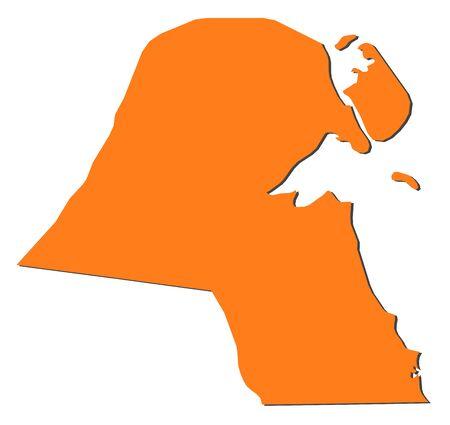 koweit: La carte politique du Kowe�t avec les plusieurs gouvernorats.