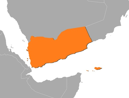 southwestern asia: Political map of Yemen with the several governorates. Illustration