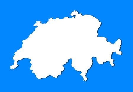 swizerland: Political map of Swizerland with the several cantons.