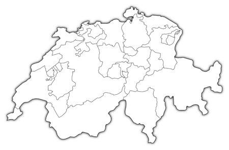 La Svizzera Cartina.Foto Cartina Svizzera Immagini E Vettoriali