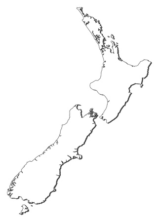 new zealand: Political map of New Zealand with the several regions.