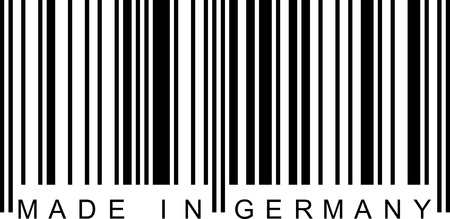 Made in Germany with a barcode (EAN). Vector
