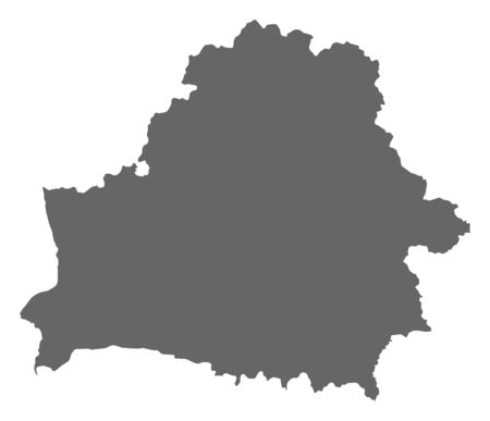 frontiers: Political map of Belarus with the several provinces  Illustration
