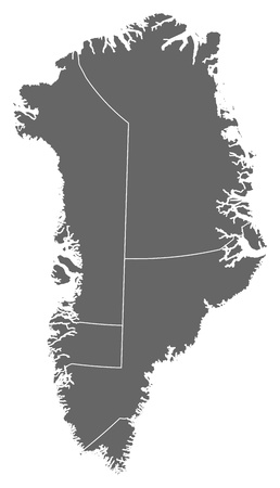 Political map of Greenland with the several municipalities. Stock Vector - 13912593