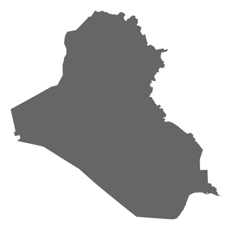 southwestern asia: Political map of Iraq with the several governorates. Illustration