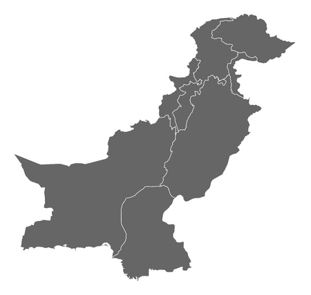 Political map of Pakistan with the several provinces. Stock Vector - 13912605