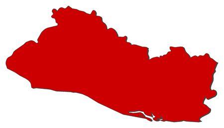 mapa de el salvador: Mapa político de El Salvador con los distintos departamentos.