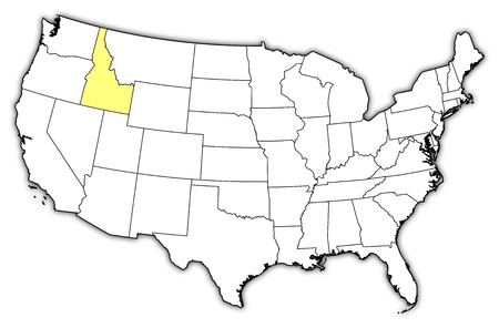 Political Map Of United States With The Several States Where - Idaho us map