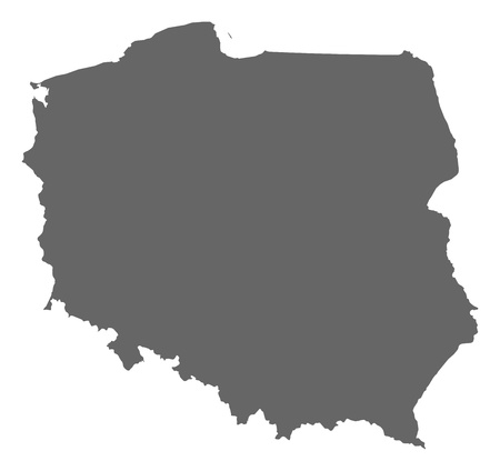polska: Political map of Poland with the several provinces (voivodschips). Illustration