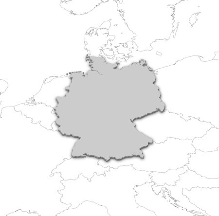 Political map of Germany with the several states. Stock Photo - 14009045