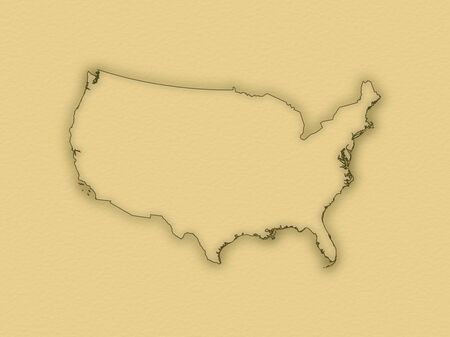 Political map of the United States with the several states. photo