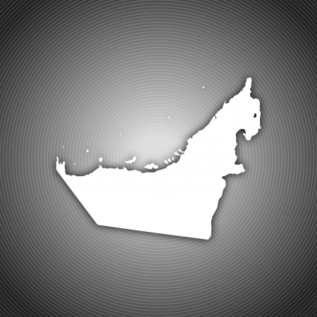 Political map of the United Arab Emirates with the several emerats. Stock Photo - 14112568