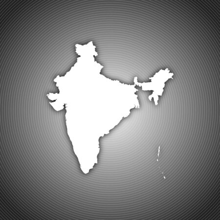 Political map of India with the several states. photo