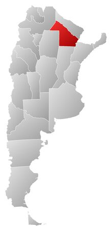 chaco: Political map of Argentina with the several provinces where Chaco is highlighted.