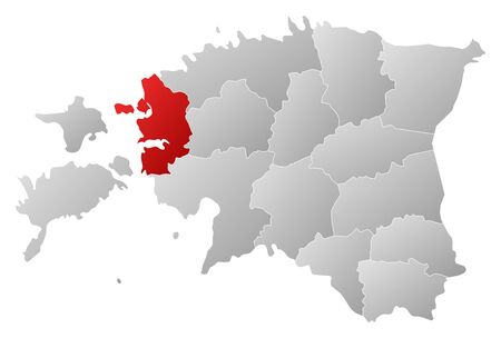 ne: Political map of Estonia with the several counties where L��ne is highlighted.