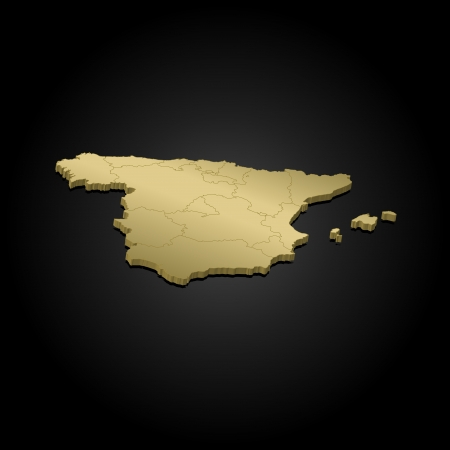 spain map: Political map of Spain with the several regions.