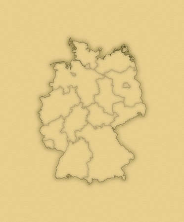 Political map of Germany with the several states. photo