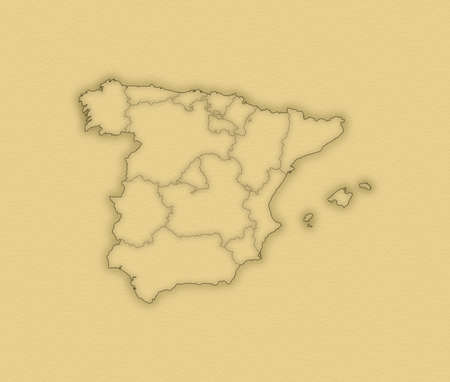 Political map of Spain with the several regions. Stock Photo - 14200121