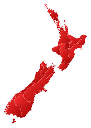 Political map of New Zealand with the several regions. Stock Vector - 14199869