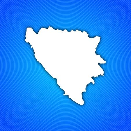 bosna: Mappa politica della Bosnia-Erzegovina con i Cantoni diversi. Archivio Fotografico