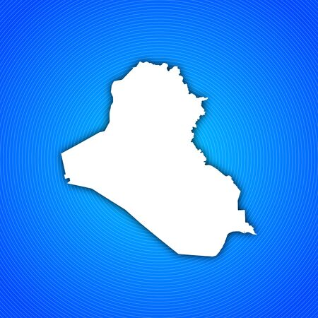 Political map of Iraq with the several governorates. Stock Photo - 14246143