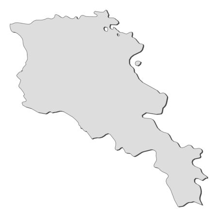 Political map of Armenia with the several provinces. Illustration