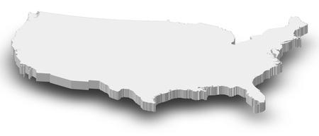 Carte politique des Etats-Unis avec les divers États. Banque d'images - 14324441