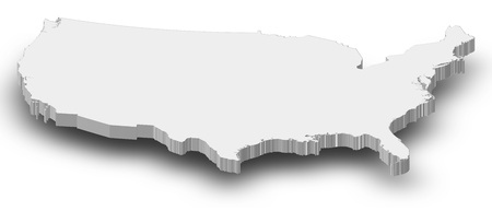 Political map of the United States with the several states.