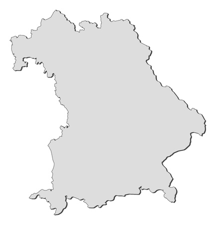 Map of the state Bavaria in Germany.