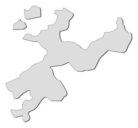 Map of Soleure, a canton of Switzerland. Stock Vector - 14368584