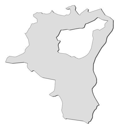 st  gallen: Mapa de St. Gallen, un cant�n de Suiza. Vectores